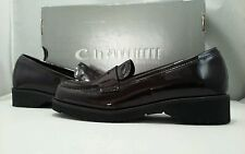 La Canadienne Halle Women's Wine Vernice Patent Leather Loafer Size 6 M