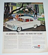 Vintage Car Ad — 1957 — English Ford Anglia 2-Door