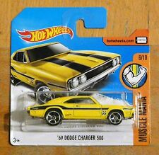 ***NEW*** Hot Wheels '69 Dodge Charger 500 (Mooneyes / Yellow) Model Mint Carded
