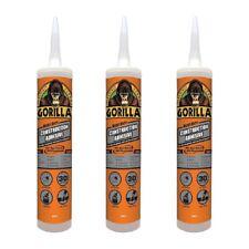 Gorilla Heavy Duty Construction Adhesive Waterproof White 9 Oz Cartridge, 3-Pack
