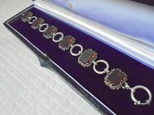 BRACCIALE IN ARGENTO 800 ART DECO E SWAROVSKI GIALLI anni '60 Silver Bracelet