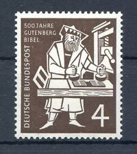 Federal/BRD 198 marca individuales (4 PF) -500 J. Gutenberg-biblia - ** post fresco 1954