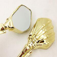 Pour Harley Heritage Springer Sportster Dyna Glide Glod Pince en Chrome Crâne Miroir