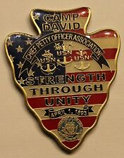 Camp David Chief Petty Officer Association CPO Navy Challenge Coin