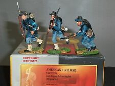 CONTE ACW57116 IRON BRIGADE ADVANCING AMERICAN CIVIL WAR METAL TOY SOLDIER SET