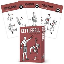 Exercise Cards Kettlebell Home Gym Workouts Hiit Strength Training Build Musc.