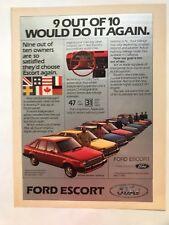 Ford Escort Vintage 1982 Print Ad