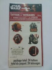NEW STAR WARS Temporary TATTOOS ~ 1 pack = 24 tattoos ~ Party Favors