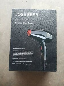Jose Eber Quick Shine Infrared Blow Dryer NEW Black 4 variable speed and temp