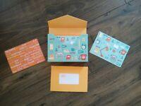 Julia Rothman 20 note card envelopes set new in box-Galison