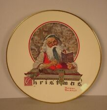 Vintage Norman Rockwell Collector Plate ; Christmas 1977  Yuletide Reckoning