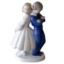 Royal Copenhagen 'Pardon Me, Girl and Boy' Porcelain Figurine