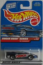 """HOT Wheels -'95 CHEVY CAMARO CABRIO blaumet. """"NESTLE CRUNCH"""" Nuovo/Scatola Originale US-CARD"""