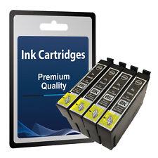 4 Black  Ink Cartridges Replace T1291 NOT original Epson