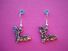 Funky Plata Bat pendientes gótico Animal Emo Halloween Horror Fancy Dress Kitsch