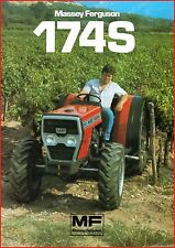 French Original  Prospect  Tracteur Tractor Massey Ferguson MF 174 S_ 2 pages