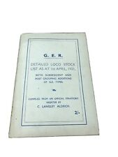 More details for g e r detailed loco stick list 1921