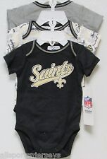 NFL NWT INFANT ONESIE-SET OF 3- NEW ORLEANS SAINTS 18 MONTHS