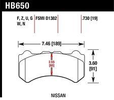 Hawk Performance HB650U.730 Unbeatable Pad And Rotor Wear Disc Brake Pads