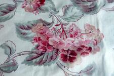 """HANDPRINTED GORGEOUS FRENCH 19THC FLORAL COTTON CURTAIN FRINGES 52x88"""""""