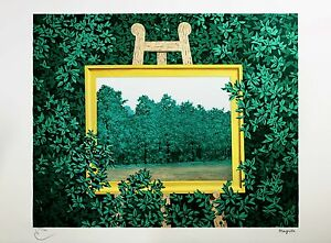 René Magritte - The Waterfall (signed & numbered lithograph)