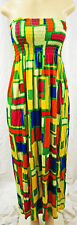 Womens Strapless Summer Sun Dress Tube Top Full Length Adult SMALL New