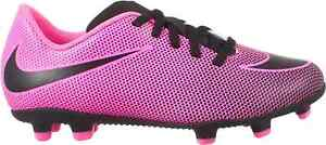 NWOT Nike Bravata II Hot Pink Soccer Shoes Size 6 Youth