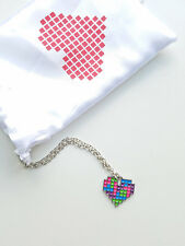 Tetris Heart Necklace - Gaming jewelry