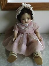 """Vintage Composition Doll Marked """"F"""""""