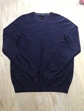 Report Collection Men's Sweater, Size L, Purple/ Navy