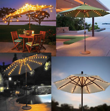 Outdoor Solar Garden Umbrella LED Light Patio Sun Shade beach Lawn decoration