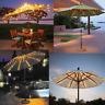 Outdoor Solar Garden Umbrella LED Light Patio Sun Shade beach Lawn decoration