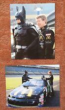 2 BILL ELLIOTT & BATMAN VINTAGE 8 X 10 Photos NASCAR #94 DAYTONA 500 SPECIAL