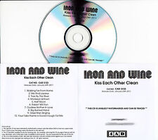 IRON AND WINE Kiss Each Other Clean UK 10-trk numbered/watermarked promo test CD