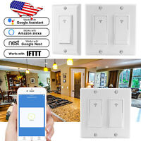 1/2 Gang Smart WiFi Wall Light Switch Modern Panel Touch For Alexa/ Google Home