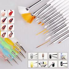20 STK/Set Nagellack Kunst Nail Art Pinsel Set Gel-Pinsel Nageldesign Neu. Pop