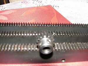 "CNC Plasma table  Mech Rack & Gear 72""  Rack (3x24""pcs) 1/4"" 12T Pinion Gear"