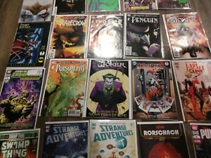 DC Comics huge lot, swamp thing dceased, joker, Harley Quinn, strange adventures