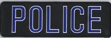 """POLICE vest backpatch geear bag patch with full hook on back 9-1/2"""" x 3"""""""