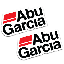 ABU GARCIA Stickers x2 20cm Wide Boat Fishing Tackle Graphics Decals #A002