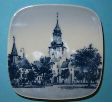 "Bing & Grondahl 3"" Wall or Butter Plate With Lutheran St Budolfi Church Denmark"