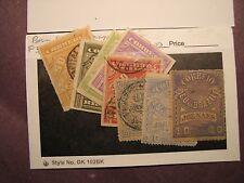 Brazil Stamp Scott# P3,10,11,13,15,19,22,23 Newspaper Stamps 1889-93 L53