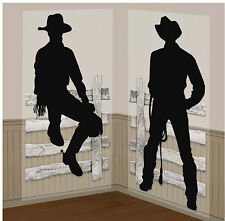Western Cowboy Party Wall Prop Add On Scene Wild West Decoration