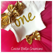 first birthday outfit , Gold One Onesie, Hot Pink And Gold Onesie,Handmade