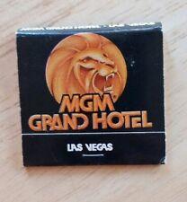 Vintage Matchbook Mgm Grand Hotel Spencer Tracy's Restaurant Las Vegas Nv Strip