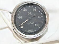 VINTAGE TOMEY 100 LB OIL PRESSURE GAUGE FITS VINTAGE CLASSIC CARS