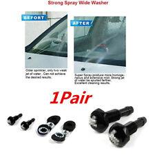 2x Black Universal Car Hood Windshield Wwiper Water Jet Spray Washer Nozzle Kits