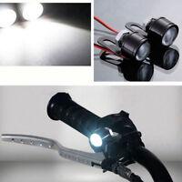 2-pack White LED Motorcycle Handlebar Spotlight Headlight Driving Light Fog Lamp