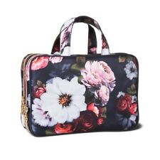 NWT Sonia Kashuk WEEKENDER Cosmetic Case Organizer Travel Bag PHOTO FLORAL
