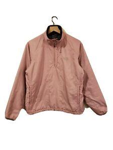 North Face TNF Women's (L) Grandma Pink Pullover 1/2 Zip Jacket PRISTINE!!!